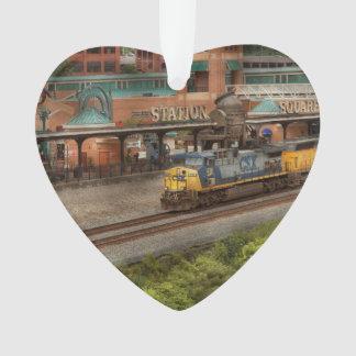 Tren - Pittsburg, PA - cuadrado de la estación