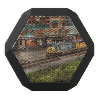 Tren - Pittsburg, PA - cuadrado de la estación Altavoces Bluetooth Negros Boombot REX