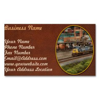 Tren - Pittsburg, PA - cuadrado de la estación Tarjetas De Visita Magnéticas (paquete De 25)