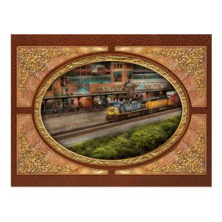 Tren - Pittsburg, PA - cuadrado de la estación Tarjetas Postales