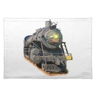 Tren Placemats del vapor Mantel