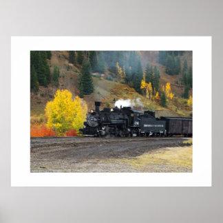 Tren que llega en Silverton Impresiones