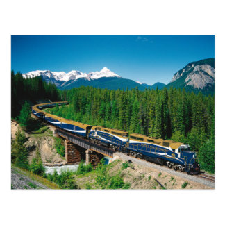 Tren rocoso del montañés tarjeta postal