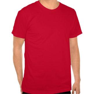 Tren rojo del navidad del vintage camiseta