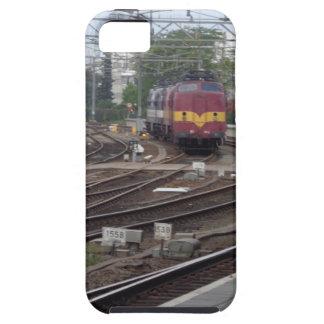 Tren rojo iPhone 5 fundas