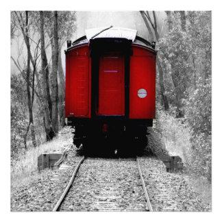 Tren rojo pasado de moda del vapor cojinete