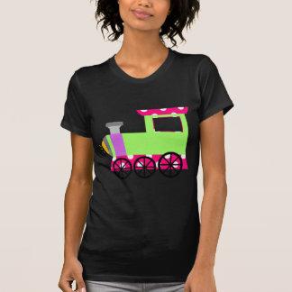 Tren rosado de Choo Choo del lunar Camisetas