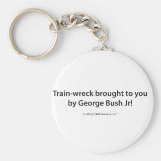 ¡Tren-ruina traída a usted por el JR de George Bus Llavero Redondo Tipo Pin