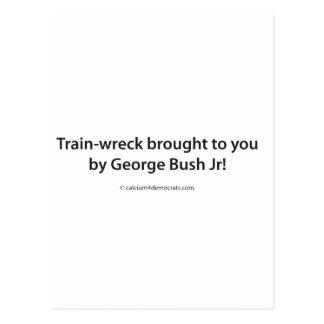 ¡Tren-ruina traída a usted por el JR de George Bus Tarjeta Postal