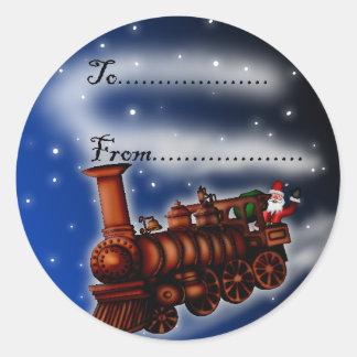 Tren Santa, etiqueta del vapor del regalo