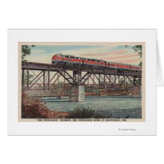 Tren- Tippecanoe/río de Tippecanoe que cruza Tarjeta De Felicitación