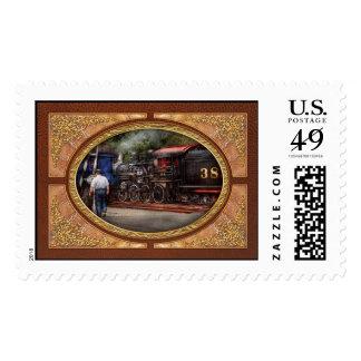 Tren - vapor - el trabajo de los conductores sello