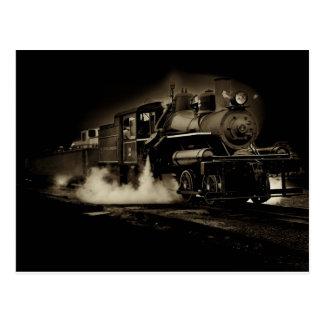 Tren viejo del vapor a lo largo de la costa de Ore Postales