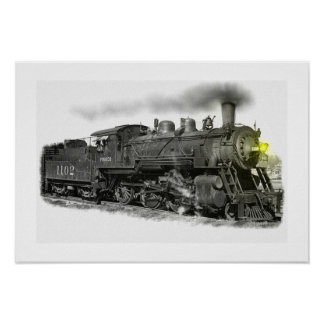 Tren viejo del vapor posters