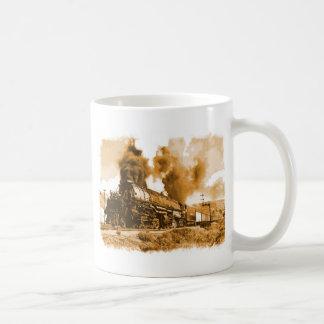 Tren viejo del vapor taza de café