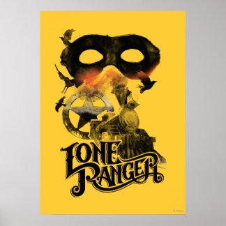 Tren y máscara solitarios del guardabosques poster
