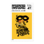 Tren y máscara solitarios del guardabosques sello postal