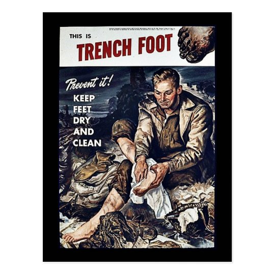 Trench Foot Postcard