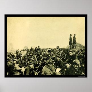 Trench Warfare in Petersburg, VA 1864 Poster