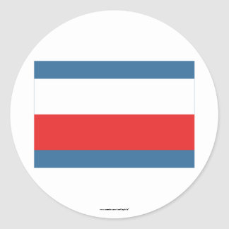 Trencin Flag Classic Round Sticker