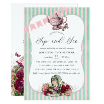 Trend Alice In Wonderland Tea Party Sip and See Invitation