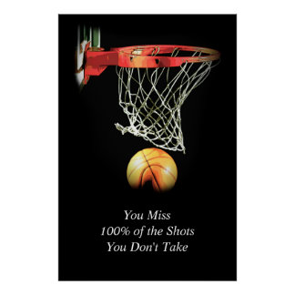 Trend Artwork Motivational Quote Basketball Poster