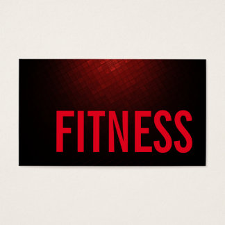 Trend Brownish Red Personal Fitness Trainer Sports Business Card