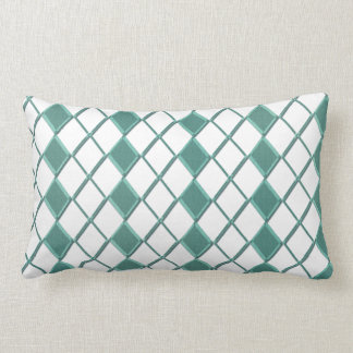 Trend emerald-green Karo cushion