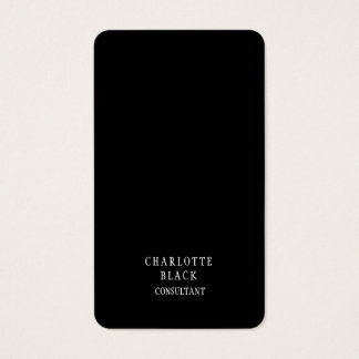 Trend Minimalist Black White Creative Simple Plain Business Card