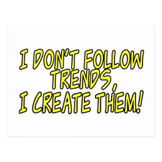 Trend Setter Postcard