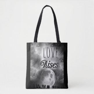 Trend-Setters Love Rises Designer Tote Bag