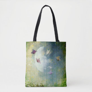 Trend-Setters Moon and Butterflies Tote Bag