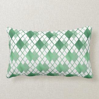 Trendiges emerald-green Karo cushion