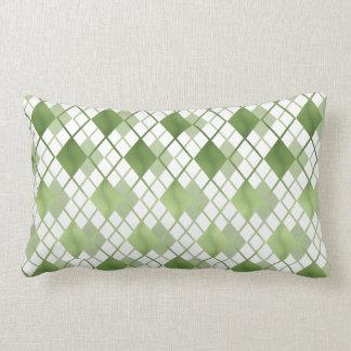 Trendiges green Karo cushion