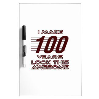 TRENDING 100 YEAR OLD BIRTHDAY DESIGNS Dry-Erase BOARD