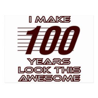 TRENDING 100 YEAR OLD BIRTHDAY DESIGNS POSTCARD