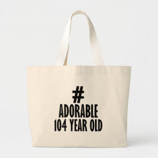 TRENDING 104 YEARS OLD BIRTHDAY DESIGNS LARGE TOTE BAG