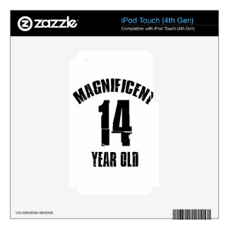 TRENDING 14 YEAR OLD BIRTHDAY DESIGNS iPod TOUCH 4G DECALS