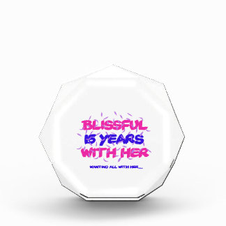 Trending 15TH marriage anniversary designs Acrylic Award