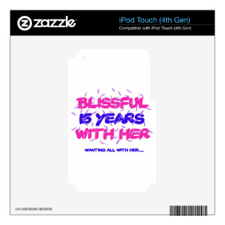 Trending 15TH marriage anniversary designs iPod Touch 4G Skin