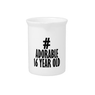 TRENDING 16 YEARS OLD BIRTHDAY DESIGNS DRINK PITCHER