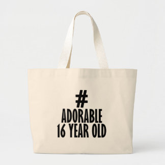 TRENDING 16 YEARS OLD BIRTHDAY DESIGNS LARGE TOTE BAG