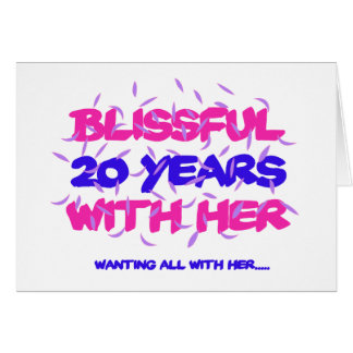 Trending 20TH marriage anniversary designs Card