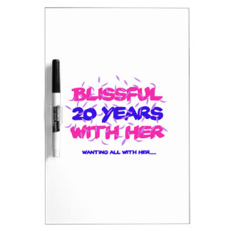 Trending 20TH marriage anniversary designs Dry-Erase Board