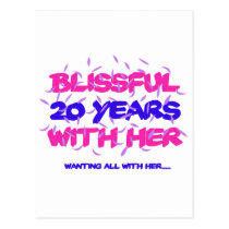 Trending 20TH marriage anniversary designs Postcard