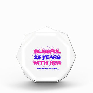 Trending 23rd marriage anniversary designs acrylic award