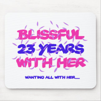 Trending 23rd marriage anniversary designs mouse pad