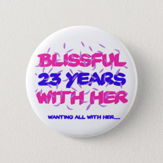 Trending 23rd marriage anniversary designs pinback button