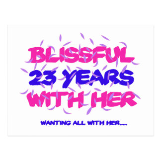 Trending 23rd marriage anniversary designs postcard