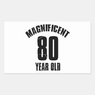 TRENDING 80 YEAR OLD BIRTHDAY DESIGNS RECTANGULAR STICKER